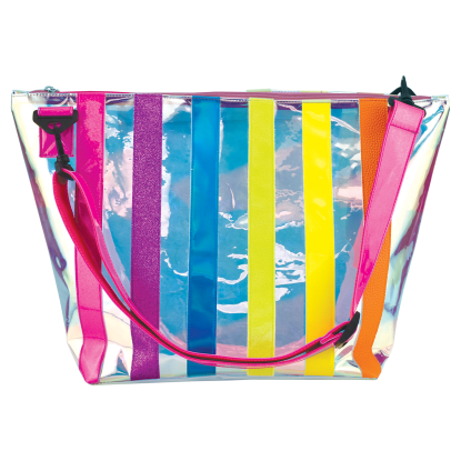 Picture of Iridescent Striped Overnight Bag