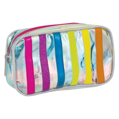 Picture of Iridescent Striped Small Cosmetic Bag