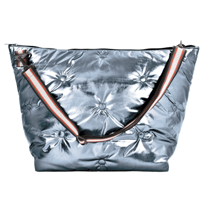 Picture of Chrome Tufted  Metallic Weekender Bag