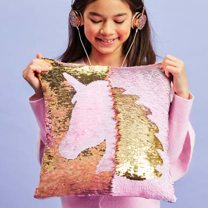 Picture of Unicorn Silhouette Reversible Sequin Pillow