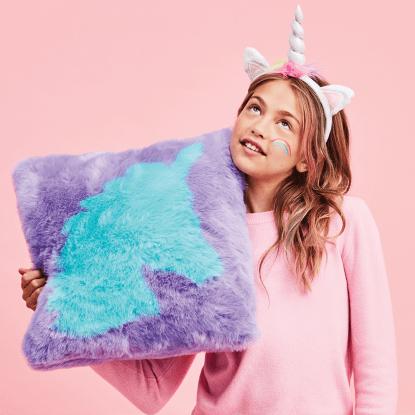 Picture of Unicorn Silhouette Furry PIllow