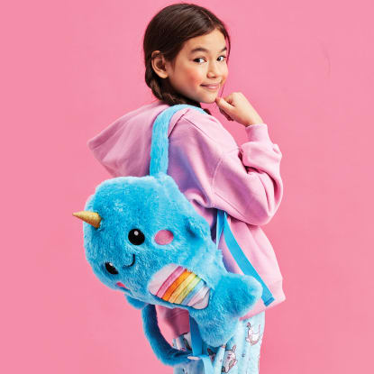 Picture of Rainbow Narwhal Furry Backpack