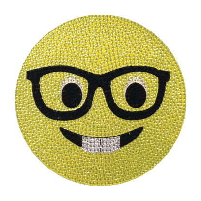 Picture of Nerd Emoji Rhinestone Decals Large