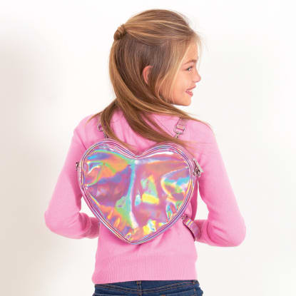 Picture of Pink Holographic Heart Bag