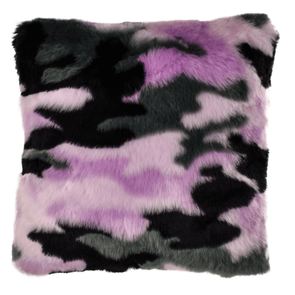Picture of Purple Camo Furry PIllow
