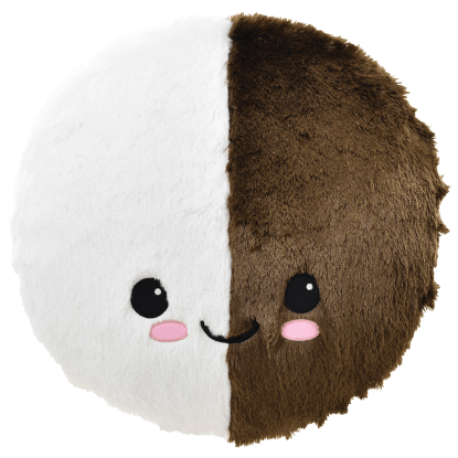Picture of Black and White Cookie Furry Pillow