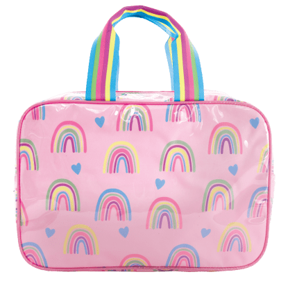 Picture of Rainbows and Hearts Large Cosmetic Bag
