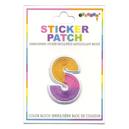 Picture of S Initial Color Block Sticker Patch
