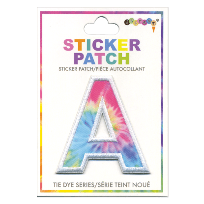 Picture of A Initial Tie Dye Sticker Patch