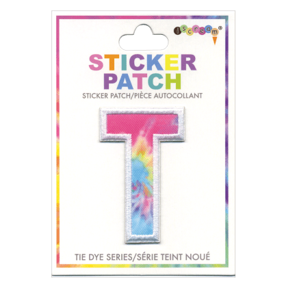Picture of T Initial Tie Dye Sticker Patch
