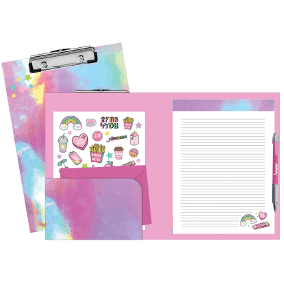 Picture of Pink Holographic Clipboard Set