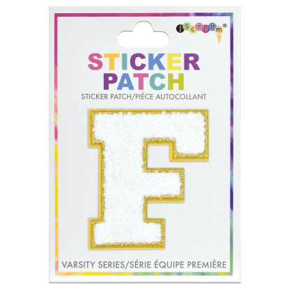 Picture of F Initial Varsity Sticker Patch