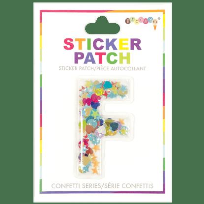Picture of F Initial Confetti Sticker Patch