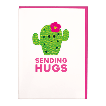 Picture of Cactus Rhinestone Decal Greeting Card