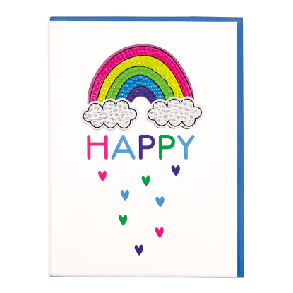 Picture of Rainbow Rhinestone Decal Greeting Card
