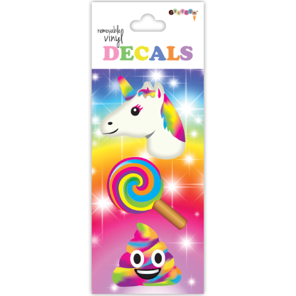 Picture of Rainbow Emojis Vinyl Decal Small