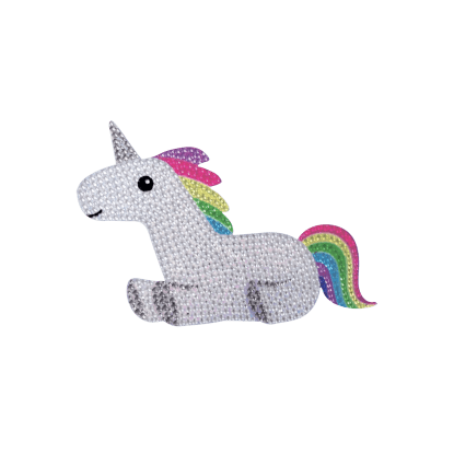 Picture of Rainbow Unicorn Rhinestone Decal Small