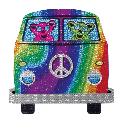 Picture of Groovy Bear Rhinestone Decal Large
