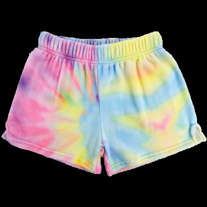 Picture of Pastel Tie Dye Plush Shorts