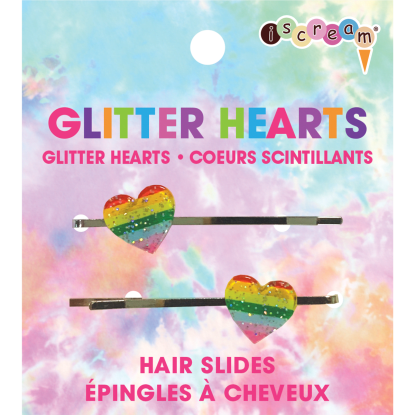 Picture of Glitter Hearts Hair Slides