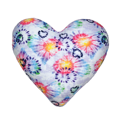 Picture of Heart Tie Dye Scented Microbead Pillow