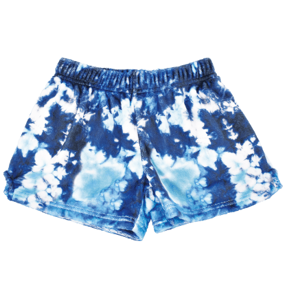 Picture of Tie Dye Blue Plush Shorts