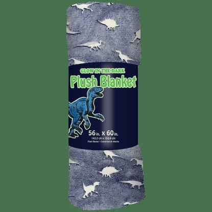 Picture of Dinosaur Tracks Glow Plush Blanket
