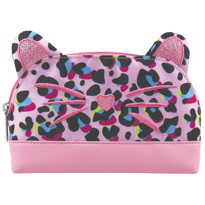 Picture of Pink Leopard Oval Cosmetic Bag