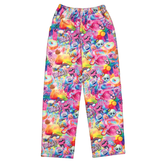 Picture of Psychedelic Collage Plush Pants