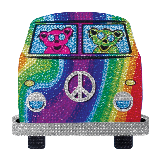 Picture of Groovy Bear Rhinestone Decals