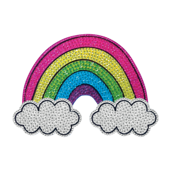 Picture of Rainbow and Clouds Rhinestone Decals
