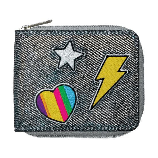 Picture of Metallic Denim Wallet