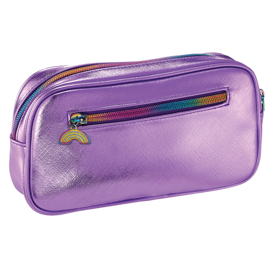 Picture of Purple Metallic Small Cosmetic Bag