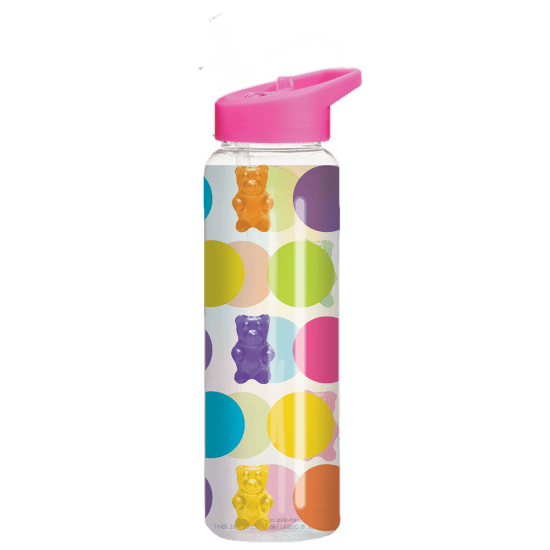 Picture of Polka Dot Gummy Bears Water Bottle