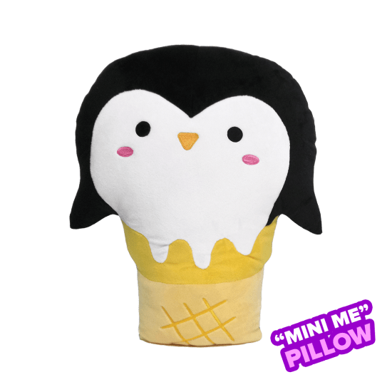 Picture of Mini Penguin Cone Scented Foodie Pillow
