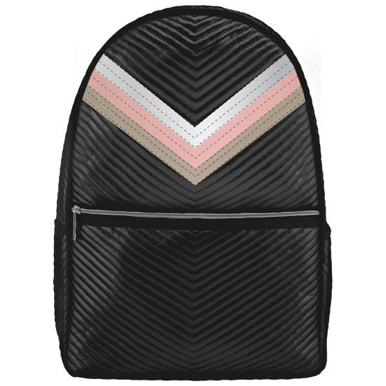Picture of Black Chevron Backpack