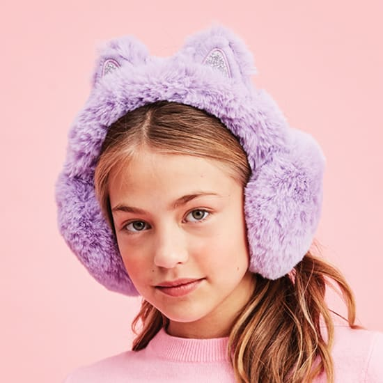 Picture of Purple Cat Furry Earmuffs