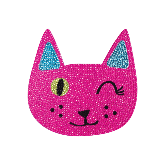 Picture of Winking Cat Rhinestone Decal Small