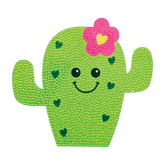 Picture of Cactus Rhinestone Decal Large