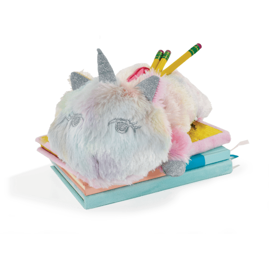 Picture of Unicorn Tie Dye Furry Pencil Case