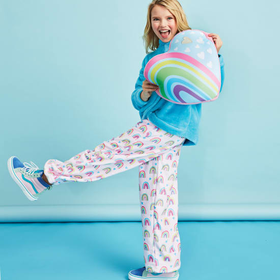 Picture of Rainbows and Hearts Plush Pants