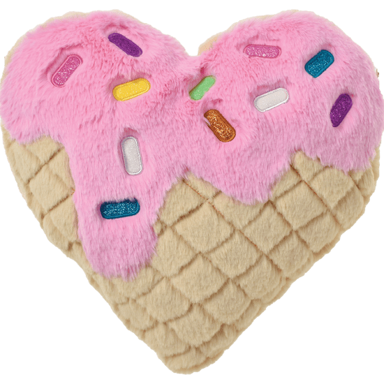 Picture of Waffle Heart Furry Pillow