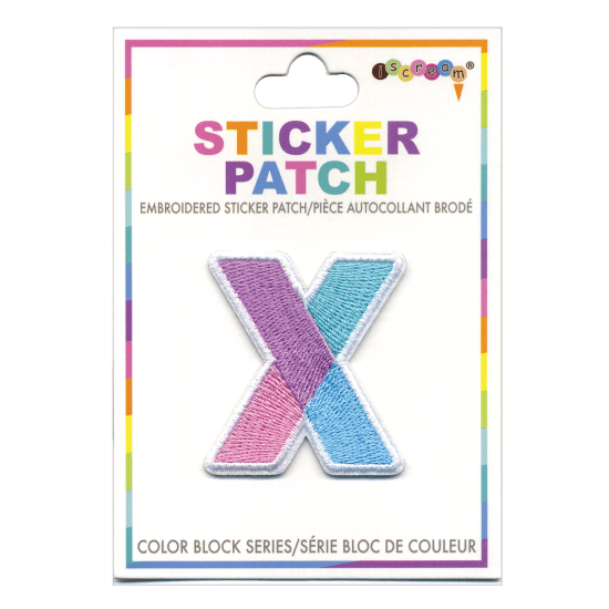 Picture of X Initial Color Block Sticker Patch