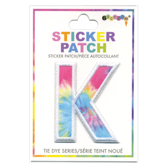 Picture of K Initial Tie Dye Sticker Patch
