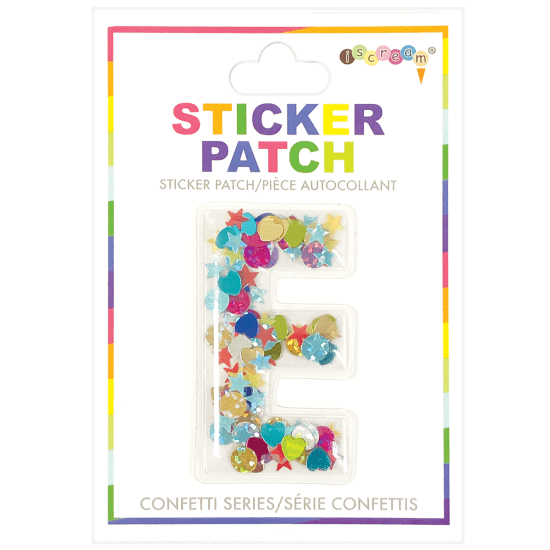 Picture of E Initial Confetti Sticker Patch