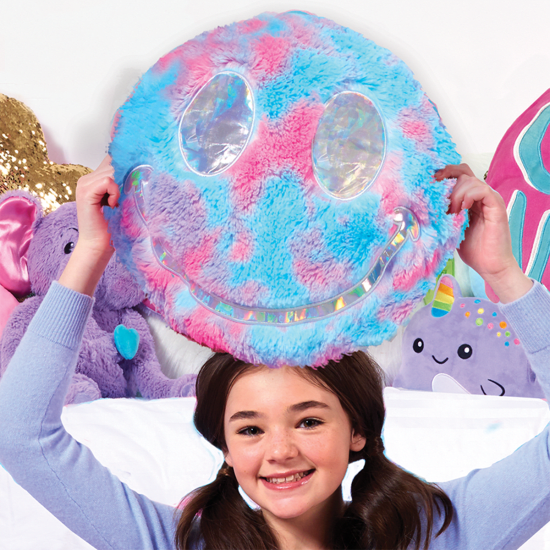 Picture of Sherbet Tie Dye Reversible Furry Pillow