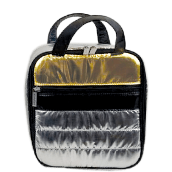 Picture of Silver and Gold Puffer Lunch Tote
