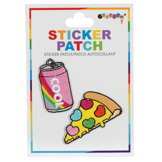 Picture of Soda and Pizza Embroidered Sticker Patch