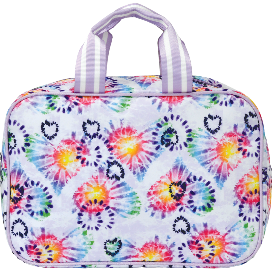 Picture of Heart Tie Dye Large Cosmetic Bag