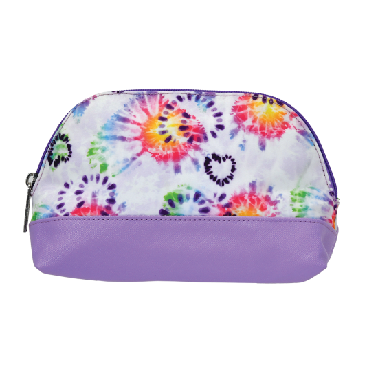Picture of Heart Tie Dye Oval Cosmetic Bag